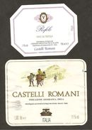 ITALIA - 2 Etichette Vino CASTELLI ROMANI Cantine CONS.PRODUTTORI VINI VELLETRI E FONTANA DI PAPA Bianco Del LAZIO - Witte Wijn