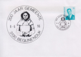 Enveloppe (1996-06-08, 3130 Begijnendijk) - Statue De ' Begga ' - 04 - Poststempels/ Marcofilie