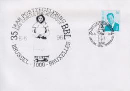 Enveloppe (1996-06-08, Brussel 1000 Bruxelles) - Statue De ' Begga ' - 04 - Poststempels/ Marcofilie