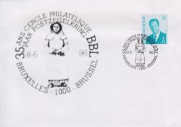 Enveloppe (1996-06-08, Bruxelles 1000 Brussel) - Statue De ' Begga ' - 04 - Poststempels/ Marcofilie