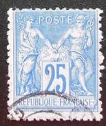 France - YT 79 OBLITERE (1876-78) Groupe A. Paix Et Commerce Dit Type Sage - OBLITERE SANS GOMME (Face) - 1876-1878 Sage (Type I)