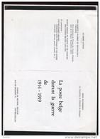 Belgie Literatuur 9blzL/R  StudieLa Poste Belge Durant La Guerre 1914-19198 (copie) - Guerre 14-18