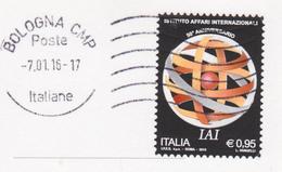 ITALIA 2015 IAI SU CARTOLINA DA TOSCANA - 6. 1946-.. Repubblica