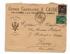 1890 - ENVELOPPE COMMERCIALE De CAMBRAI (NORD) Avec SAGE - Marcofilie (Brieven)