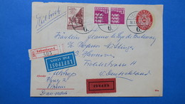 Lettre Du 30/3/1966 Pour L'Allemagne, Entier Postal + Complement - Danemark