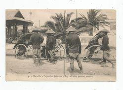 Cp,  13 , MARSEILLE , Exposition Coloniale , Boys & Leurs Pousse Pousses , Vierge - Colonial Exhibitions 1906 - 1922