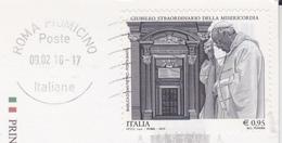 ITALIA 2015 GIUBILEO SU CARTOLINA DA ROMA - 6. 1946-.. Repubblica