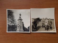 AULNOYE  WW2 SOLDATS ALLEMANDS ET OFFICIERS CHEVAUX MONUMENTS AUX MORTS VOIR SCANS 2 PHOTOS - Photos