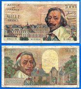 France 1000 Francs 1955 1 Septembre Richelieu Serie U Que Prix + Port Frcs Frc Europe Paypal Skrill Bitcoin OK - 1871-1952 Circulated During XXth