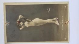 NINETTE D'ARVILLE WALERY PARIS Photo Nue Jeune Femme Serie 5025 CPA Animees Postcard - Femmes Célèbres