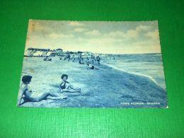 Cartolina Torre Pedrera - Spiaggia 1951 - Rimini