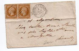 1861 - ENVELOPPE Avec PAIRE N°13 De SAINT SERNIN SUR RANCE (AVEYRON) - 1849-1876: Periodo Classico