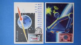 Russie, 2 Carte-Maximum, Année 1965,    N°2953 Et 2954  Espace - 1923-1991 URSS
