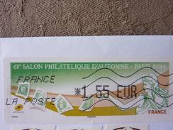 2014  LISA1 Salon D'automne 1,55€ Oblitéré - 2010-... Vignettes Illustrées