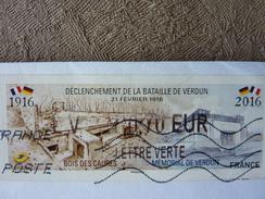 2016  LISA 2 Lettre Verte 0,70€ VERDUN 1916 Oblitéré - 2010-... Vignettes Illustrées