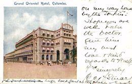 SRI LANKA. CEYLON. Colombo - Grand Oriental Hotel - Sri Lanka (Ceilán)