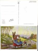 543768,tolle Künstler AK Gertrud Schadow Ostern Osterhase Vermenschlicht Hase Eier Os - Ostern