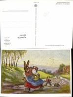 543769,tolle Künstler AK Gertrud Schadow Ostern Osterhase Vermenschlicht Hase Eier Os - Ostern