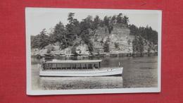 RPPC Small Boat  Wisconsin Dells????   Ref-2608 - Postcards