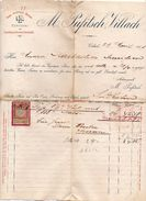 """Austria - Villach - Fattura Della Ditta """" M. Pufitsch """"  Datata  29 Aprile 1901 Con Ricevuta Di Impostazione - (FDC4983) - Austria"""
