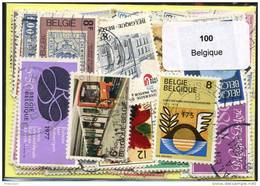 100 Timbres Thème Belgique - Belgium