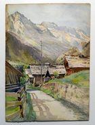 ACQUARELLO ORIGINALE FIRMATO LOUIS TRINQUIER - TRIANON (1853-1922) _  CHAMPERY (VALAIS) Svizzera _ Acquerello - Acquarelli