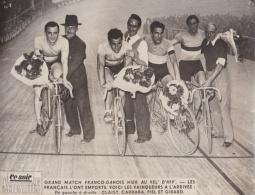 CYCLISME :  Vel' D'hiv : CLAISY , CARRARA , PIEL , Et GIRARD - Cyclisme