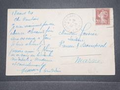 FRANCE - Type Semeuse Perforé LD Sur Carte Postale En 1924 - L 8941 - Perforés