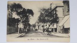 LE CAIRE Rue Kasre El Nil Centre Ville Bourg Egyptien Egyptienne CPA Postcard Animee - Erythrée