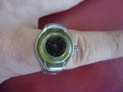 MONTRE BAGUE Quartz FEMME Marc GAY - Bracelet Doigt Métal Extensible Pour Déco Ou à Réviser - Watches: Jewels