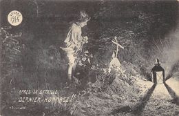 CPA MILITARIA APRES LA BATAILLE DERNIER HOMMAGE GUERRE 1914 - Weltkrieg 1914-18