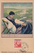 Carte-Maximum TUNISIE N° Yvert 299 (TUBERCULEUX) Obl Sp Makula-Rades 1945 - Tunisia (1888-1955)