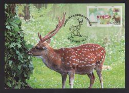 Taiwan R.O.CHINA - ATM Frama -Maximum Card.- Sika Deer #106 Red Imprint - ATM - Frama (vignette)