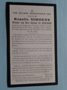 DP Rosalie SIMOENS ( Julianus De Busschere ) Brugge 9 Jan 1846 - 5 Aug 1922 ! - Avvisi Di Necrologio
