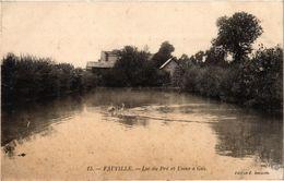 FAUVILLE (76) Le Lac Du Pré Et L'Usine à Gaz - Belle Carte écrite Au Verso - Andere Gemeenten
