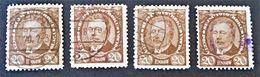 TRAMPCZYNSKI 1919 - OBLITERES - YT 208 - VARIETES DE TEINTES ET D'OBLITERATIONS - Gebraucht