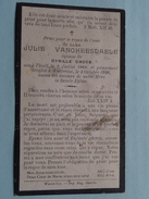 DP Julie VANGHEESDAELE ( Cyrille CROES ) Thielt 2 Juillet 1860 - Westerloo 3 Oct 1920 ! - Avvisi Di Necrologio