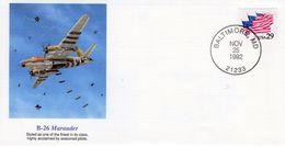 US FDC  -  Martin B-26 Marauder  - Enveloppe 1e Jour - Avions
