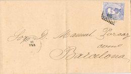 24620. Carta Entera TORTOSA (Tarragona) 1873. Fechador Palo Recto. Amadeo - Storia Postale
