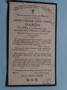 DP Adrien-Charles-Louis-Cornil DANES ( Danès ) Killem 14 Dec 1898 - Warhem 1 Juillet 1926 ! - Avvisi Di Necrologio