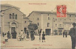 07. LAMASTRE. LA PLACE DU TEMPLE.  CPAA AN 1912. - Lamastre