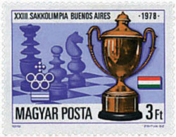 Ref. 69803 * NEW *  - HUNGARY . 1979. 23rd CHESS OLYMPIAD IN BUENOS AIRES. 23 OLIMPIADA DE AJEDREZ EN BUENOS AIRES - Hungary