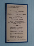 DP Marie-Jeanne MAGINET ( Dochtertje Van DE MARTELAERE ) Sinte-Maria-Audenhove 28 Jan 1931 - Erwetegem 18 Nov 1935 ! - Obituary Notices