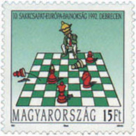 Ref. 30487 * NEW *  - HUNGARY . 1992. 10th EUROPEAN CHESS CHAMPIONSHIP. 10 CAMPEONATO DE EUROPA DE AJEDREZ - Unused Stamps
