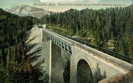 Mariazeller Bahn - Viadukt II. Mit Oetscher Auf Der Strecke Mitterbach-Wienerbruck 1912 (000564) - Österreich