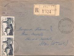 France Enveloppe Recommandee à En Tete ( Architecte ) Du 3 Avril 1954 De Prat Et Bonrepaux Pour Paris - Covers & Documents