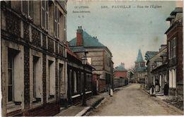 FAUVILLE (76) La Rue De L'Eglise - Carte Postée - Andere Gemeenten