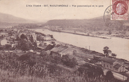CPA - L'Ain Illustré - 0417 - Sault-Brénaz : Vue Panoramique Et La Gare - Andere Gemeenten