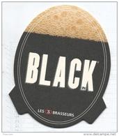 """Sous Bock """"3 BRASSEURS Black"""" - Sous-bocks"""