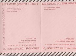 716  BUVARD LIBRAIRIE JOSEPH GIBERT LIVRES NEUFS OCCASION 32 X20 CM - Stationeries (flat Articles)